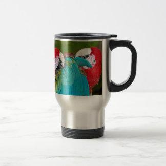 Caneca Térmica Impressão vermelho e azul do papagaio do macaw
