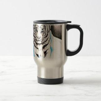 Caneca Térmica Inverno branco do tigre Siberian