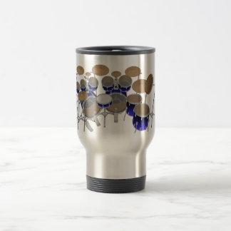 Caneca Térmica Jogo do cilindro de 10 partes: Inclinação azul: