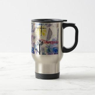 Caneca Térmica Klee - paisagem inacabado, pintura de Paul Klee