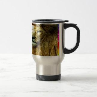 Caneca Térmica Leão com beira do arco-íris