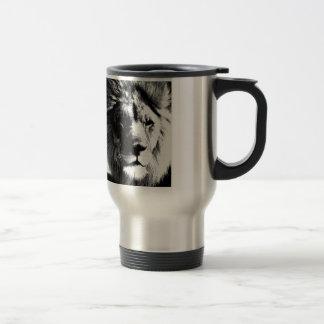Caneca Térmica Leão preto & branco