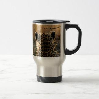 Caneca Térmica Leopardo que olha fora na distância