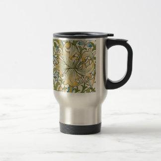 Caneca Térmica Lírio dourado por William Morris
