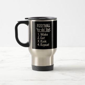 Caneca Térmica Lista do tumulto do ` do festival' (branca)