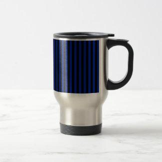 Caneca Térmica Listras finas - pretas e azul imperial