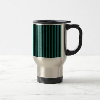 Caneca Térmica Listras finas - preto e verde do pinho