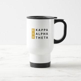 Caneca Térmica Logotipo empilhado   alfa da teta do Kappa