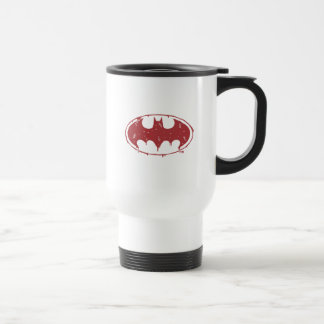 Caneca Térmica Logotipo Oozing do bastão vermelho de Batman |