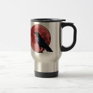 Caneca Térmica Lua do sangue com corvo
