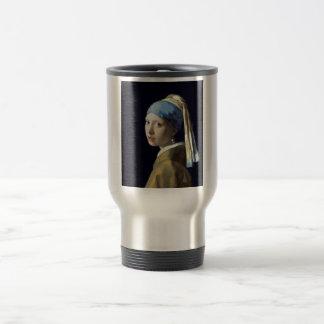 Caneca Térmica Menina de Johannes Vermeer com um brinco da pérola