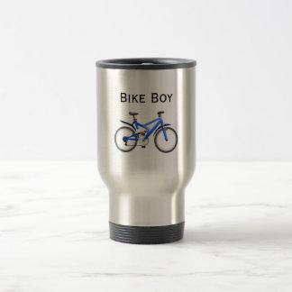 Caneca Térmica Menino da bicicleta inoxidável