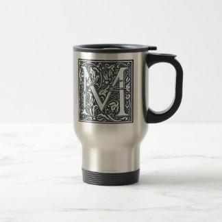 Caneca Térmica monograma de prata do flourish - M