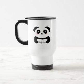 Caneca Térmica Monograma feminino bonito do urso de panda do bebê
