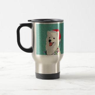 Caneca Térmica Natal bonito do cão de filhote de cachorro do