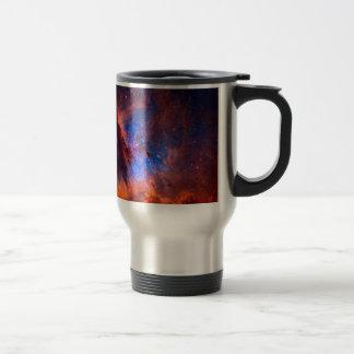 Caneca Térmica Nebulosa galáctica abstrata com nuvem cósmica -