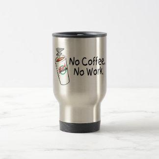 Caneca Térmica Nenhum café nenhum trabalho