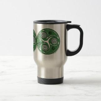Caneca Térmica O céltico espiral de Triskel do irlandês agride #2