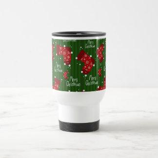 Caneca Térmica O Feliz Natal modela branco e verde vermelhos