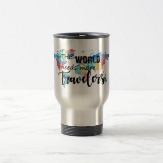 Caneca Térmica O mundo precisa mais viajantes
