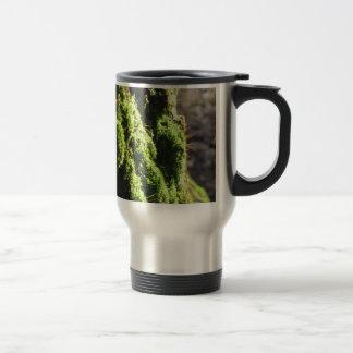 Caneca Térmica O musgo verde no detalhe da natureza de musgo