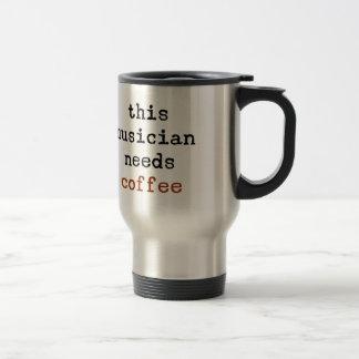 Caneca Térmica o músico precisa o café
