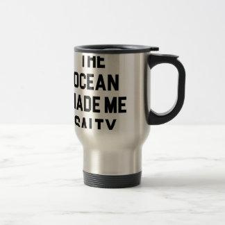 Caneca Térmica O oceano fez-me salgado