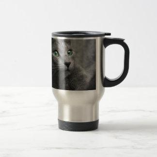 Caneca Térmica O olhar azul do russo do gato Eyes o animal de