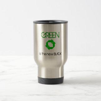 Caneca Térmica O reciclar, VERDE é o PRETO novo