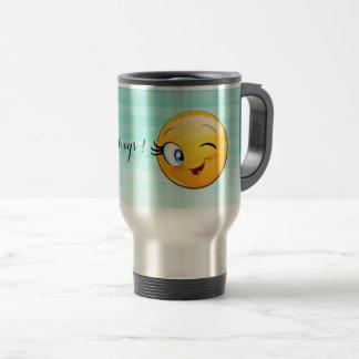 Caneca Térmica O smiley pisc adorável Emoji Cara-Está feliz