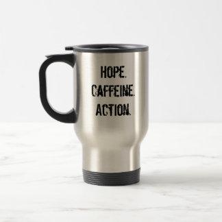 Caneca Térmica OBAMAJAVA, Hope.Caffeine.Action.