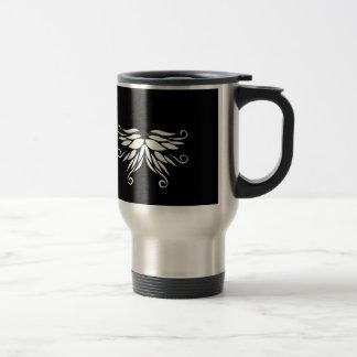 Caneca Térmica Ornamento brancos pretos do Nordic de Sibéria
