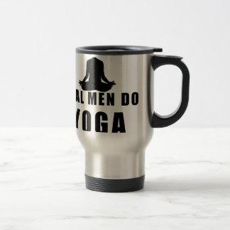Caneca Térmica os homens reais fazem a ioga