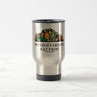 Caneca Térmica Os vegetarianos comem figos? (Pilha dos vegetais)