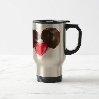 Caneca Térmica Ovo e coração de chocolate