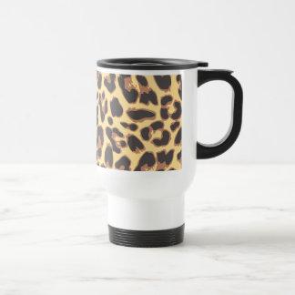 Caneca Térmica Padrões da pele animal do impressão do leopardo