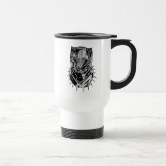Caneca Térmica Pantera preta esboço principal preto & branco de |