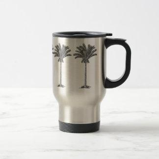 Caneca Térmica Paraíso exótico elegante da ilha das palmeiras do
