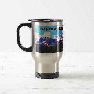 Caneca Térmica Parque nacional de Banff - aguarela da geleira da