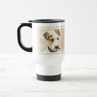 Caneca Térmica Parson Jack Russell Terrier que pinta uma arte de