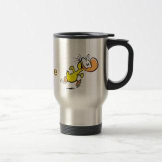 Caneca Térmica Pato dos desenhos animados do humor do café