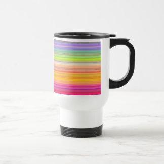 Caneca Térmica Personalize - o fundo multicolorido do inclinação
