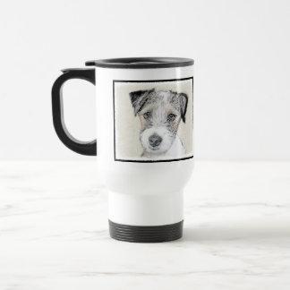 Caneca Térmica Pintura áspera de Russell Terrier - arte original