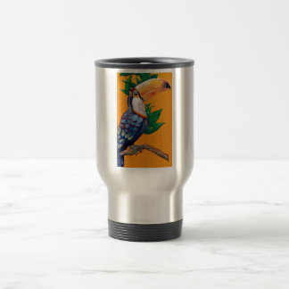 Caneca Térmica Pintura bonita do pássaro de Toucan