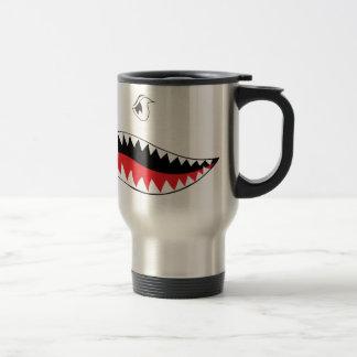 Caneca Térmica Pintura da boca do tubarão