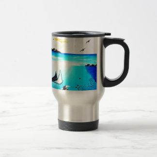 Caneca Térmica Pintura de cena subaquática bonita