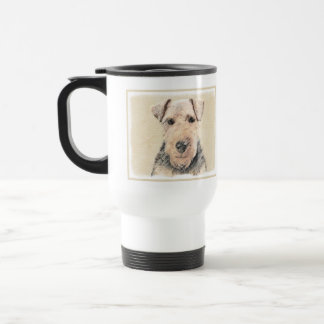 Caneca Térmica Pintura de galês Terrier - arte original bonito do