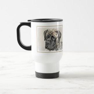 Caneca Térmica Pintura (rajado) inglesa do Mastiff - cão original