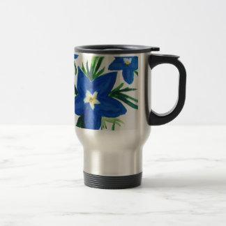 Caneca Térmica pouca coleção azul da flor