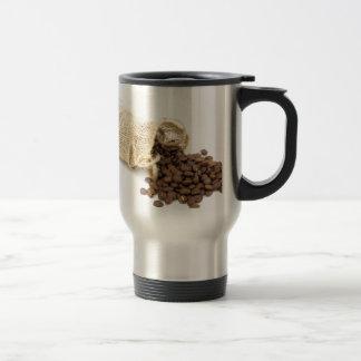 Caneca Térmica Pouco sackcloth com feijões de café